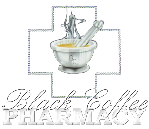 Black Coffee Pharmacy Logo